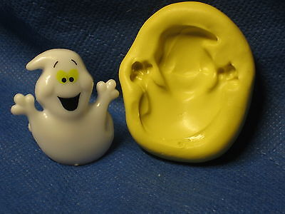 Halloween Ghost Silicone  Mold Flexible Clay Candy Fimo Chocolate 220 Cookie Wax - Halloween Wax Candy
