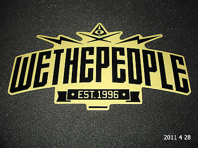 AUTHENTIC LARGE WETHEPEOPLE WTP EST 1996 BICYCLES STICKER / DECAL #60 AUFKLEBER