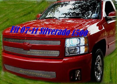 2011 11 2010 10 2012 2013 Chevy Silverado 1500  Billet Grille 3PC 2009 2008 2007