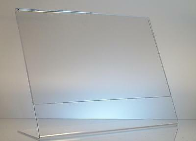 Clear acrylic 11 x 8.5 slanted sign holder display wholesale