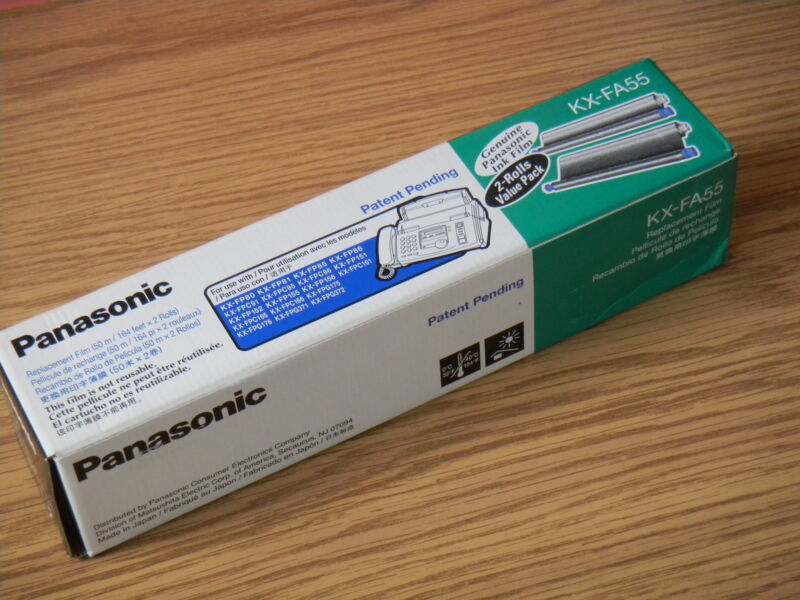 Genuine Panasonic KX-FA55 Replacement Fax Film -2 Rolls