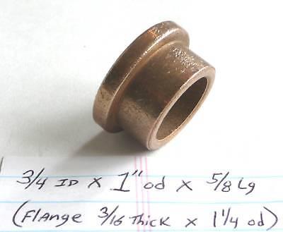 Oilite Flange Bushing Bronze New 34 Id X 1 Od X 58 Brass Bearing Spacer Sleeve
