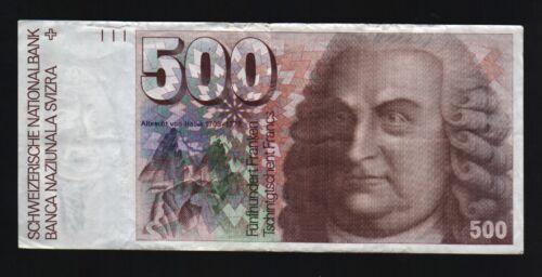 SWITZERLAND 500 FRANCS P58 1992 ANATOMICAL MUSCLE SWISS MONEY BILL BANK NOTE