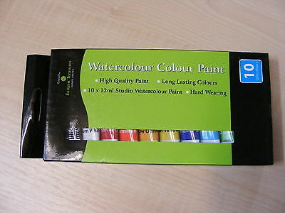 10 PACK OF STUDIO color de agua PINTURAS - 12ml EACH - Arte / segunda mano  Embacar hacia Spain