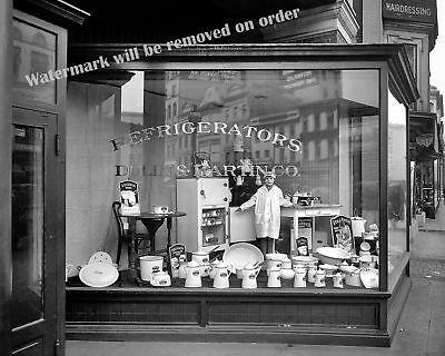 Photograph Vintage Washington Dc Appliance Store  1921C  8X10
