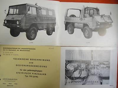 10 Stück Steyr Puch Pinzgauer 710 Bedienungsanleitung BH BW