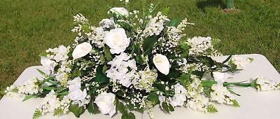 Wedding Table Centerpiece Mantel Table Spray Arrangement Altar Custom Colors  - Wedding Table Arrangements