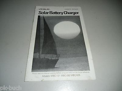 Betriebsanleitung Solar Battery Charger Marine Seefahrt RV Automotive Batteries Rv Marine Batterien