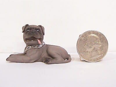 "NEW Brindle BullMastiff Dog 2"" Figure Figurine Hood Hound Bull Mastiff"