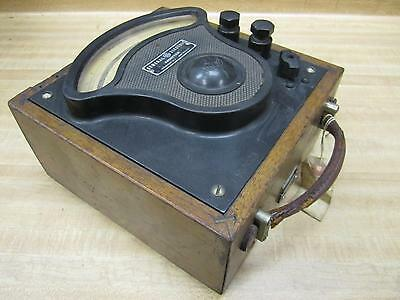 General Electric 3675323 Vintage Industrial Amp Meter Wo Lid Antique