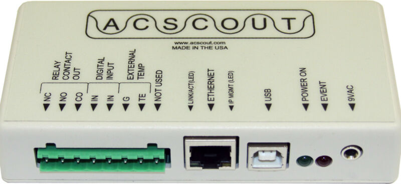 ACScout Net Power Quality Analyzer - with network connection