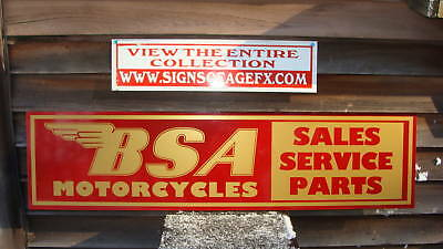 1950'S-60'S BSA MOTORCYCLE DEALER/SERVICE/PARTS SIGN/AD GARAGE ART DECOR