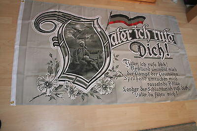 Fahne Flagge Kaiserreich Weltkrieg -- Vater ich rufe Dich --  150 x 90