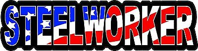 3 - Steelworker Us Flag Lunch Box Hard Hat Tool Box Helmet Sticker H136