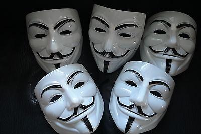 VENDETTA Maske 20 Stück Masken Mask Guy Fawkes Maske Anonymous Occupy NEU