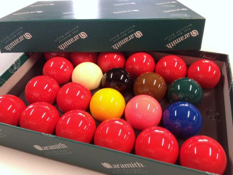 "REAL ARAMITH SNOOKER BALLS 2 & 1/16"" inch Quality Premier (FULL 22 Ball Set)"