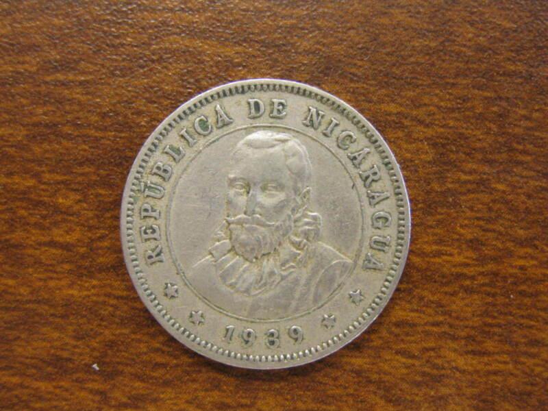 1939 Nicaragua 25 Centavos