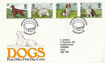 7 FEBRUARY 1979 DOGS POST OFFICE FIRST DAY COVER LONDON SW SHS