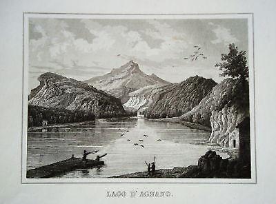 Lago di Agnano Therme  Italien  Italia  Stahlstich 1842