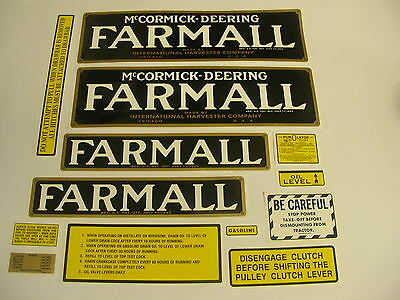 Ihc Farmall Regular Tractor Decal Ser - New Free Shipping