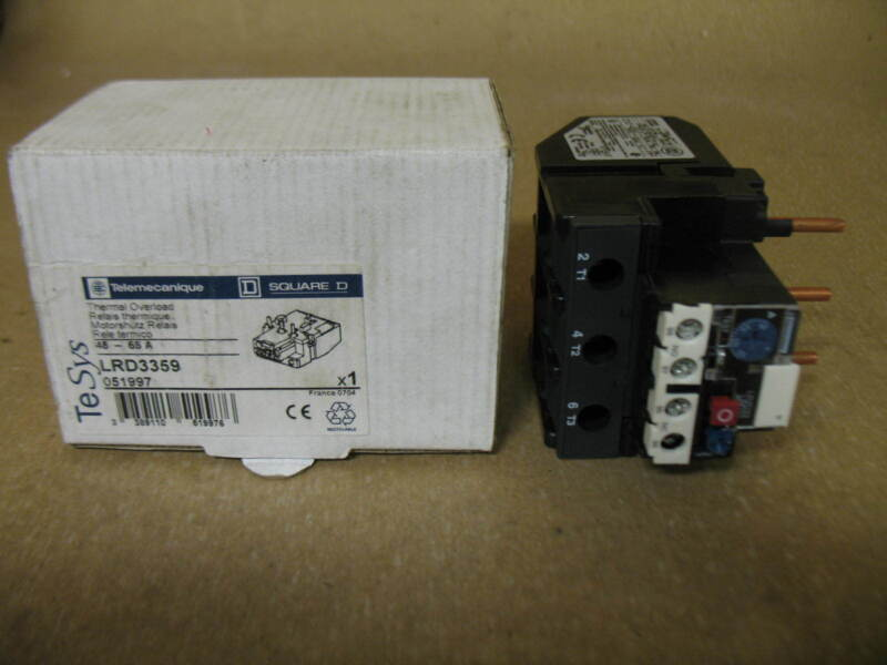 SQUARE D TELEMECHANIQUE LRD3359 THERMAL OVERLOAD RELAY 48-65A