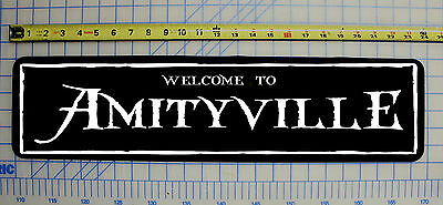 WELCOME TO AMITYVILLE (HORROR) Halloween / Haunted House / Horror Sign 6