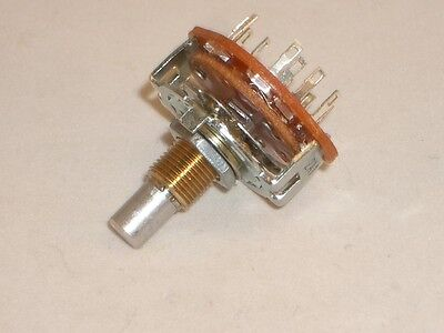 Ced P-h395 Rotary Switch 3 Pole 3 Position Mbb Shorting 14 Shaft Vintage Radio