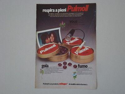 advertising Pubblicità 1977 PULMOLL MILUPA