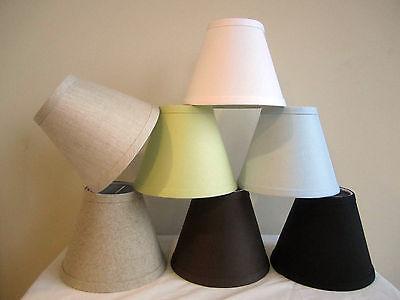 Urbanest Linen Mini Chandelier Lamp Shade, Clip On, Hardback, 3