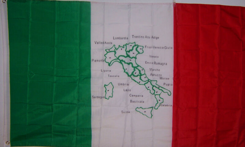 NEW 3x5 ft ITALY MAP ITALIAN FLAG BANNER better quality usa seller