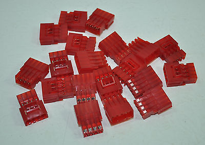 Tyco Amp 4 Pos Mta156 Male Connector Assembly 22awg Lot Of 20 Part 641437-4