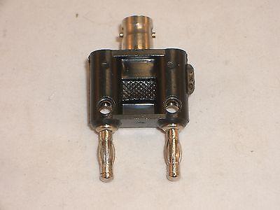 Mpj 18245pl Dual Banana Plug To Bnc-female Adapter Fits Pomona