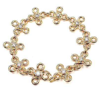 RARE! AUTHENTIC CHANEL 18K YELLOW GOLD DIAMOND BRACELET PAPERS