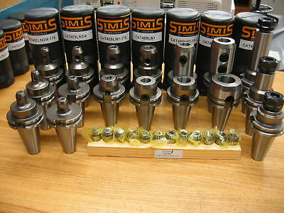 Simis Cat 40 End Mill Holders Er20 Techniks Collets Tool Holder Package