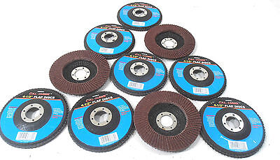 Lot Of 10 4 12 Inch X 78 Flap 60 Grit Wheel Sanding Disc Aluminum Oxide