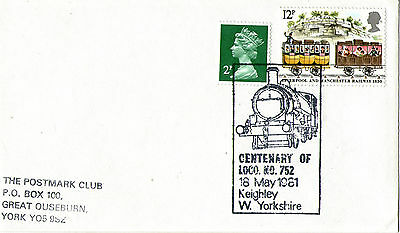 18 MAY 1981 CENTENARY OF LOCO KO 752  KEIGHLEY WEST YORKSHIRE COVER SHS