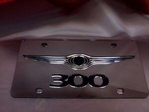 Chrysler 300 License Plate Silver/Black Brand NEW!!