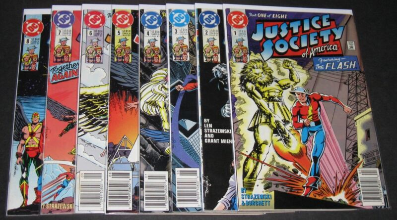Justice Society of America 1 2 3 4 5 6 7 8 Complete Set (1991, DC) 1st Print