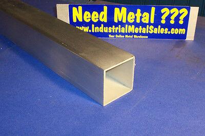 2-12 X 12-long X 18 Wall 6063 T52 Aluminum Square Tube--2.5 X .125 Wall