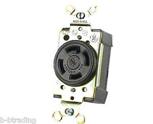 GE NEMA L14-30R 3 Pole 4 Wire Grounding 125/250V 30 AMP SINGLE Receptacle/Outlet