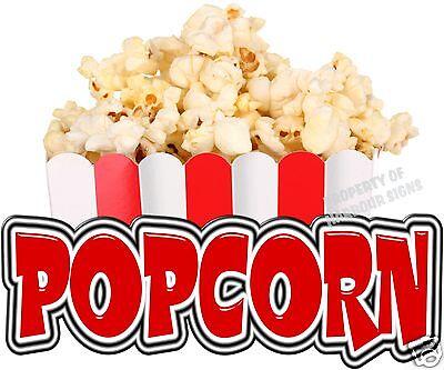 Popcorn 14 Decal Concession Food Truck Cart Trailer Restaurant Vinyl Menu Sign