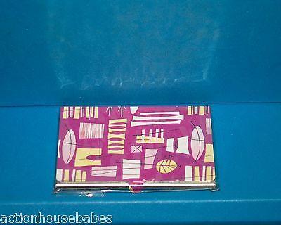 Pinkyellowwhite Retro Cool Designs Business Card Id Holder Metal Case