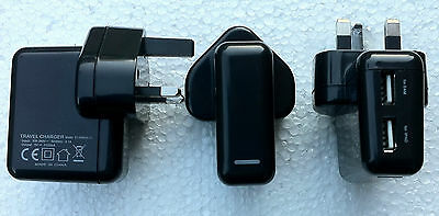 USB Mains Charger Adaptor For iPad; iPhone & Samsung Tablet.
