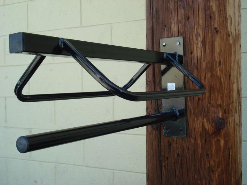 Wall Mounted Saddle Rack with Blanket Holder - 2 Pk