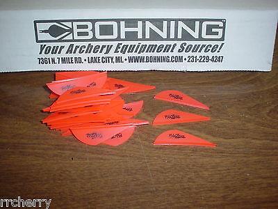 """Bohning 101027NY2 Air Vanes Neon Yellow 100-Pack 2/"""" Hunting Arrow Fletches"""