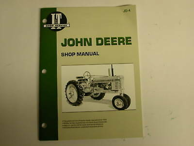 John Deere Model A B G H D M Mt It Jd4 Service Manual New - Free Shipping
