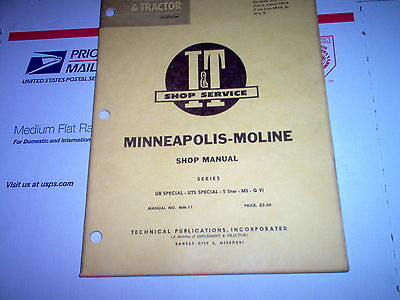 Ub Special Uts Special 5 Star M5 G Vi Minneapolis Moline Tractor It Shop Manual