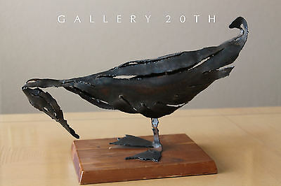 MID CENTURY MODERN BRUTALIST METAL BIRD SCULPTURE! VTG ART EAMES BERTOIA 50S 60S for sale  Scottsdale