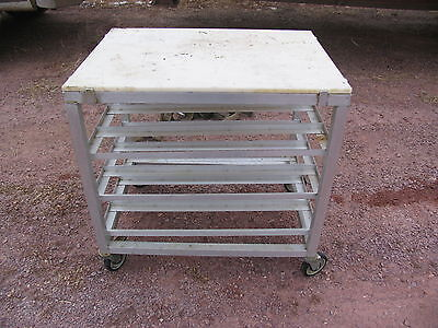 25 12 X 35 Butcher Food Prep Table W Poly Cutting Top