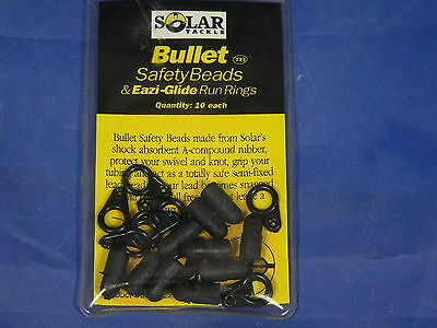 Solar Semi-fixed bullet & ring safety beads per terminale semifisso Carp-fishing